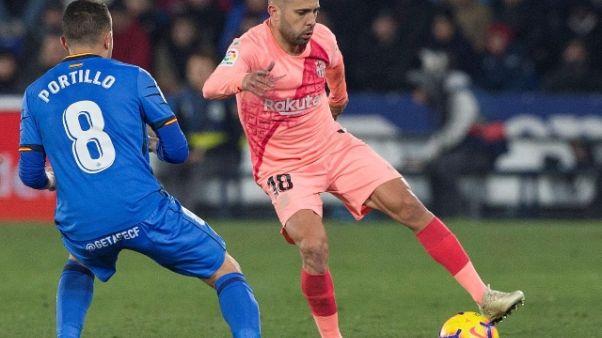 """Jordi Alba: """"Rinnovo? Chiedete al Barca"""""""
