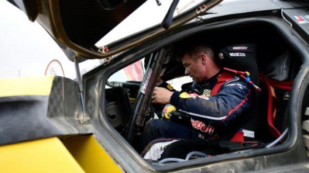 Sébastien Loeb lors de la 7e étape du Dakar le 14 janvier 2019