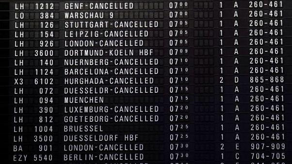 German airport security staff begin one-day strike