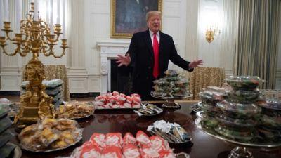 """""""Shutdown"""": fast-food à la Maison Blanche, Trump paye l'addition"""