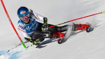 Ski alpin: Shiffrin écrase la première manche du géant de Kronplatz