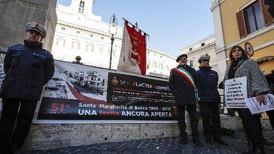 Comune Belice protesta a Montecitorio