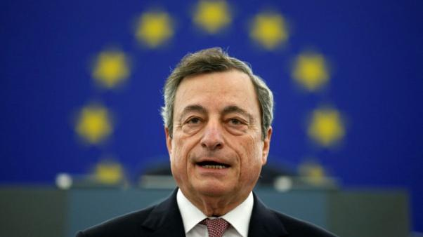 Euro zone not heading for recession: ECB's Draghi