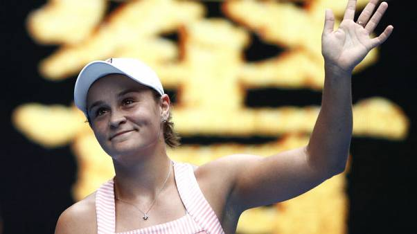 Tennis - Australia's Barty shines brightly as compatriots stumble