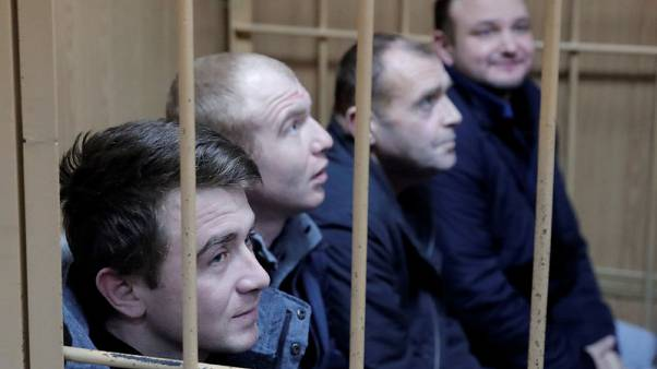 Russia rules to hold jailed Ukrainian sailors until April 24 - agencies
