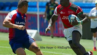 Kenya / Rugby: Ojee Captain Shuuja squad on duty at the Hamilton and Sydney 7s