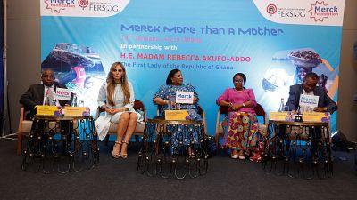 La Fondation Merck a lancé ses programmes en partenariat avec La Première Dame du Ghana et le Ministère de la Santé