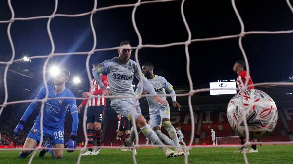 Derby defy VAR decision to knock out Southampton on penalties