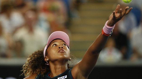 Tennis - Osaka bashes through to third round
