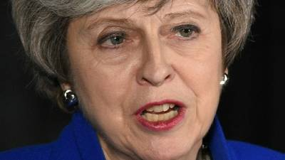 La Première ministre britannique Theresa May le 16 janvier 2019 à Londres
