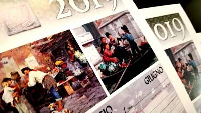 Calendario gondolieri, persone Venezia