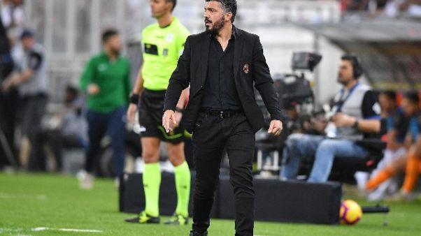 Offese ad arbitro, Gattuso squalificato