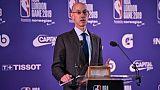 Le patron de la NBA  Adam Silver, le 17 janvier 2019 à Londres