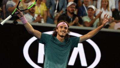Open d'Australie: premier huitième de finale à Melbourne pour Tsitsipas