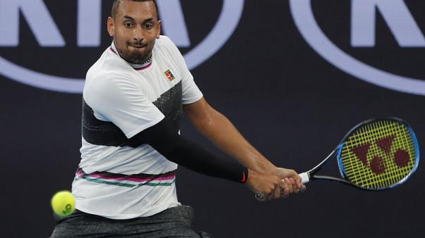 Kyrgios is better on court than behind mike, says Federer