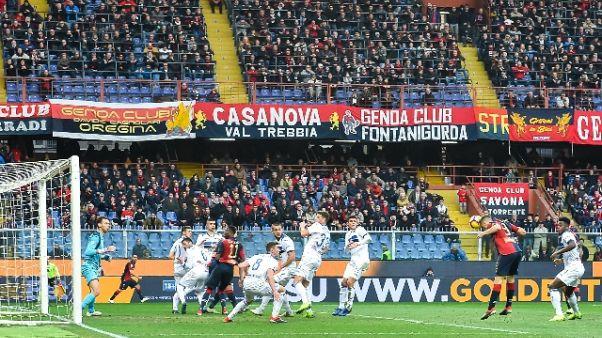 Genoa-Milan, striscioni in città