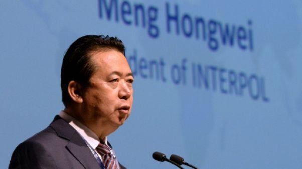 Meng Hongwei, alors président d'Interpol, le 4 juillet 2017 à Singapour