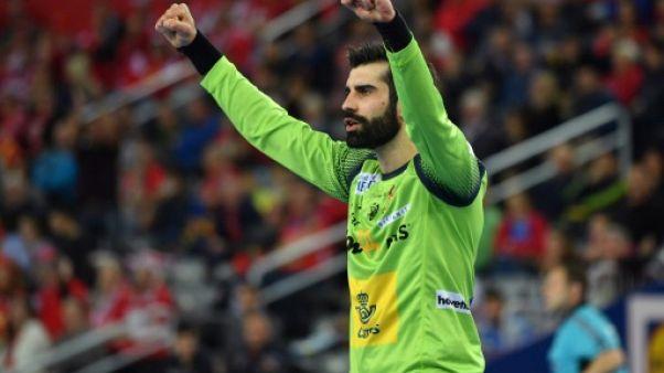 Hand: le gardien espagnol Corrales blessé par un panneau publicitaire
