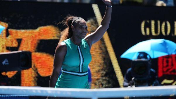 Aus Open, Serena Williams agli ottavi