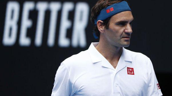 Not so fast, Roger. Federer blocked by Australian Open security