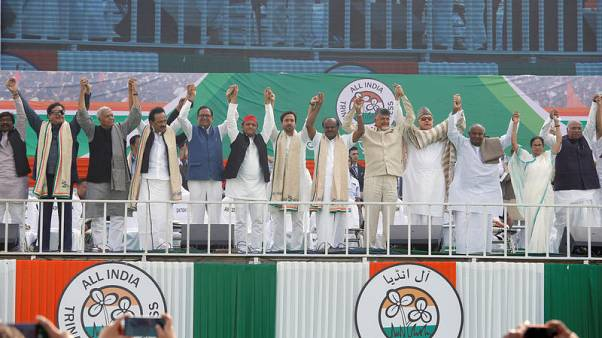 Indian opposition stages giant joint rally to oust Modi