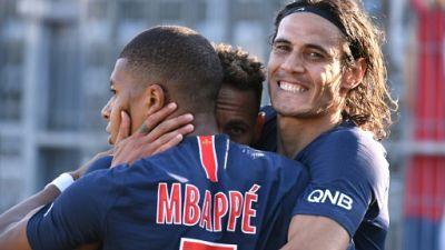 Ligue 1: Paris avec son trio Mbappé-Cavani-Neymar contre Guingamp