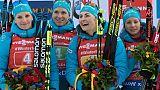 Biathlon: des Bleues impériales au relais de Ruhpolding