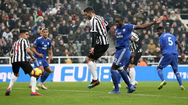 Schar double earns Newcastle crucial 3-0 win over Cardiff