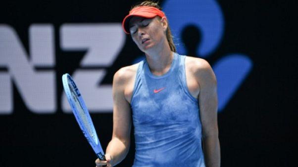 Open d'Australie: Sharapova cale en 8e contre Barty