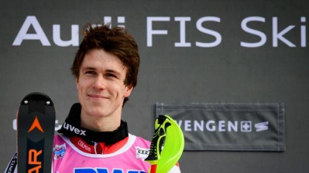 """Ski: """"Une journée parfaite !"""" pour Clément Noël, vainqueur sur le slalom de Wengen"""
