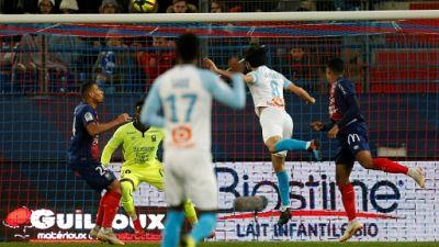 Ligue 1: Marseille s'impose à Caen et stoppe sa série noire