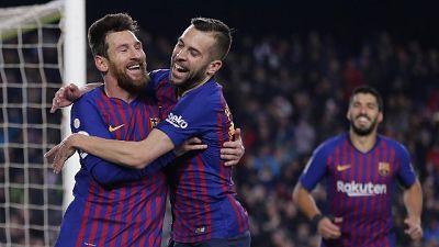 Liga,8/a vittoria di fila per Barcellona