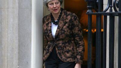 La Première ministre britannique Theresa May le 21 janvier 2019 à Londres