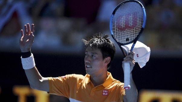 Nishikori ai quarti dopo rimonta show