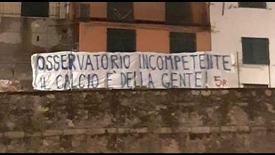 Genoa-Milan, gradinata Nord vuota