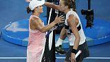 Kvitova crashes Barty party to reach semi-finals