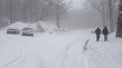Auto bloccate dalla neve in Maremma