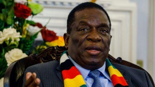 Le président zimbabwéen  Emmerson Mnangagwa, Harare, 7 septembre 2018