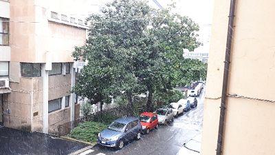 Nevica a Genova e sulla Liguria
