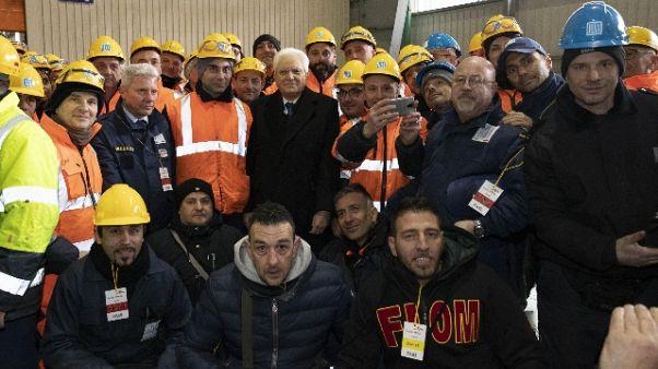 """Mattarella: """"Morti lavoro inaccettabili"""""""
