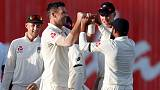 Anderson strikes late as England peg back West Indies