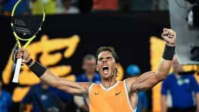 Open d'Australie: Nadal désamorce la menace Tsistipas, finale Osaka-Kvitova à double titre