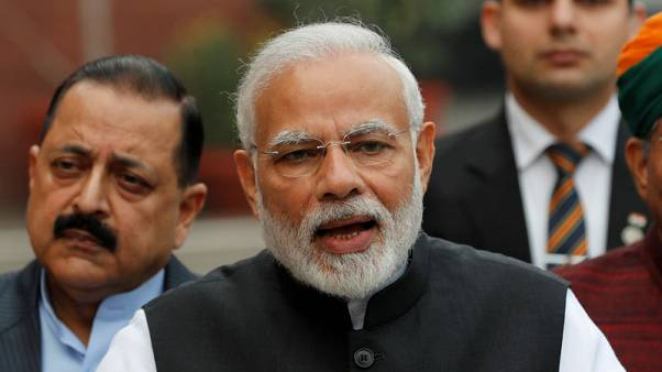 Indian PM's ruling group likely to fall short of parliament majority - poll