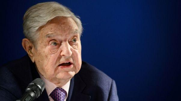 Le milliardaire philanthrope George Soros le jeudi 24 janvier 2019 à Davos