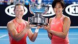 Stosur, Zhang claim women's doubles title at Australian Open