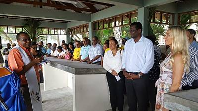 Official opening ceremony of the La Digue fish market