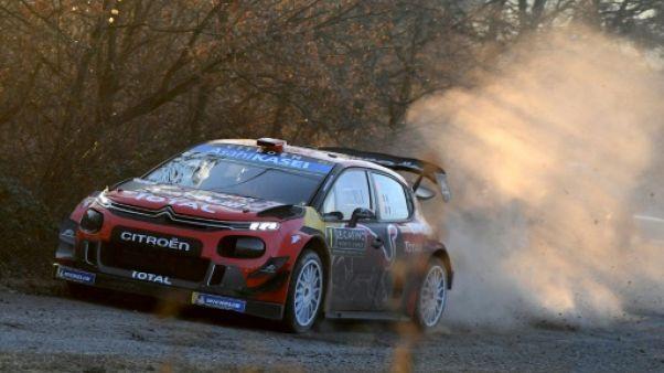 Rallye Monte-Carlo: Ogier leader d'une courte tête, Loeb 5e