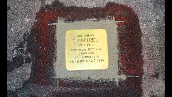 Pietra inciampo a Rioli,trovato nel 2005