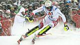 Zenhaüsern meilleur temps de la 1re manche du slalom de Kitzbühel, Hirscher 8e