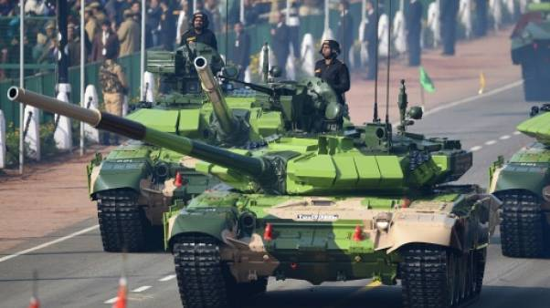 Défilé militaire à New Dehli pour commémorer le Jour de la République